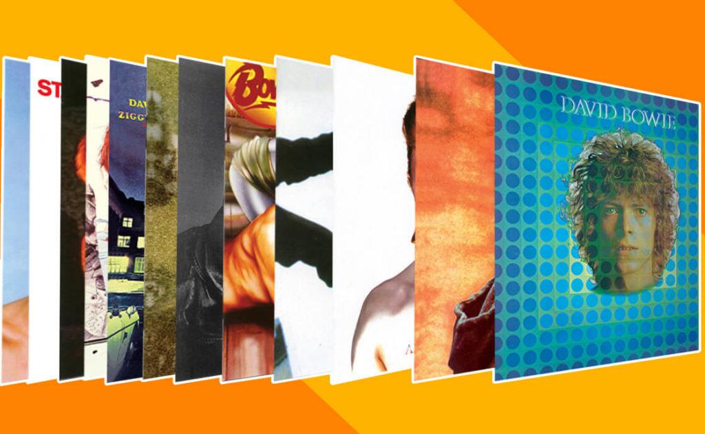 DAVID BOWIE ALBUM COVERS: <br /> ALL 28 STUDIO ALBUM <br /> ARTWORKS RANKED